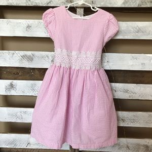 Rare Editions Pink & White Striped Dress 6X
